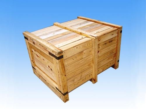 实木包角木箱