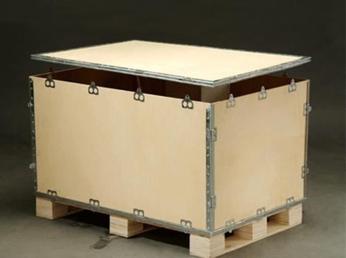 钢带包边木箱
